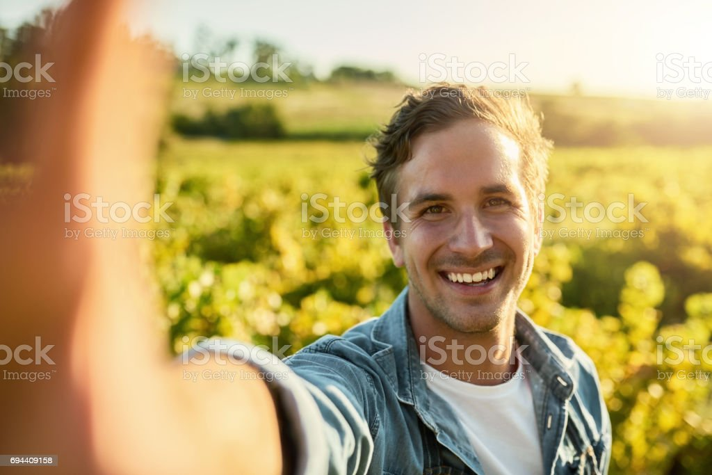 Time to get my harvest on stock photo