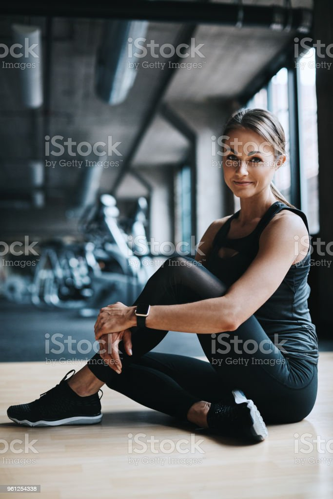 Time to get this workout started stock photo