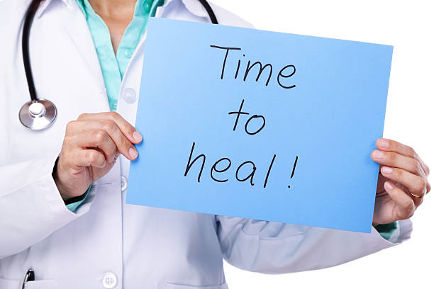time to heal! - question mark asking doctor nurse stock photos and pictures
