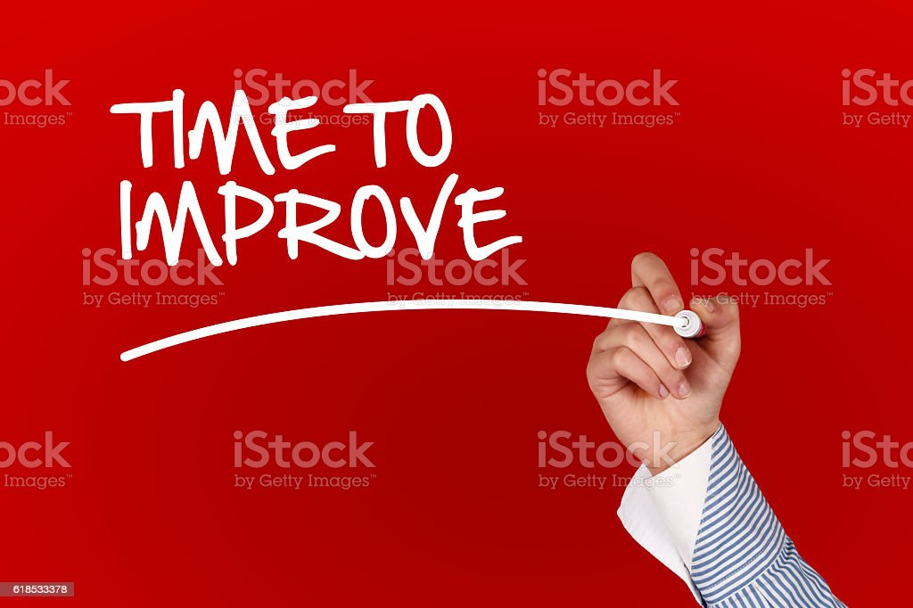 Time To Improve concept stock photo