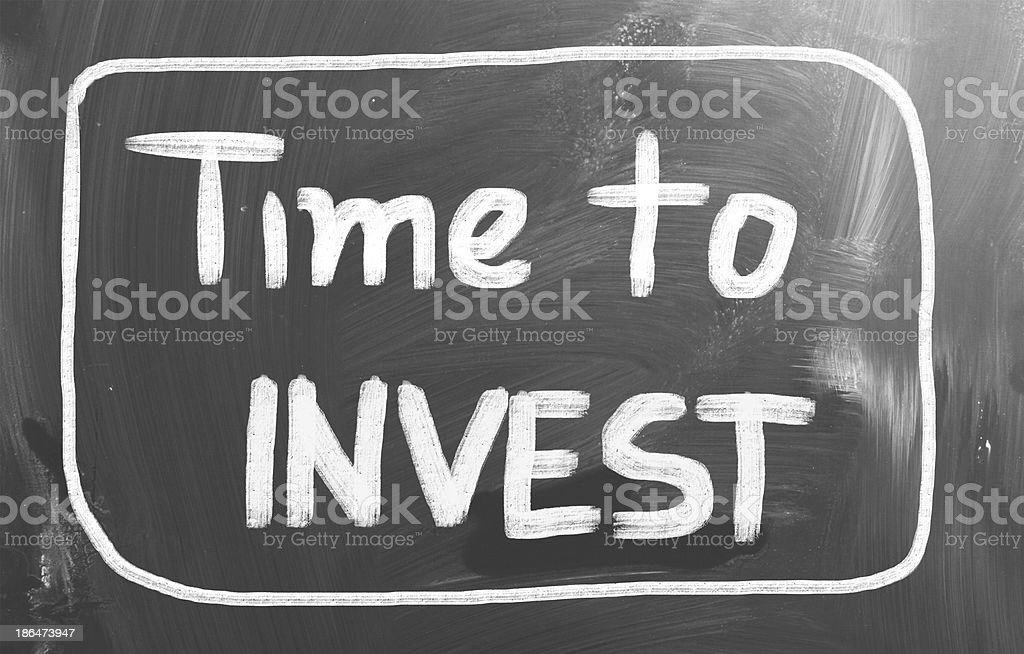 Time To Invest Concept royalty-free stock photo