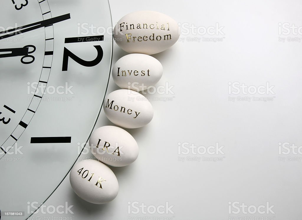 Time to invest for retirement royalty-free stock photo