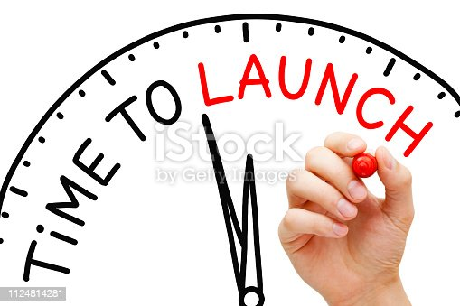 843847560istockphoto Time To Launch Clock Concept 1124814281
