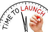 istock Time To Launch Clock Concept 1124814281