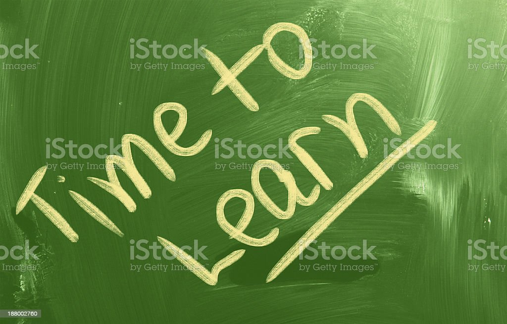 Time To Learn Concept royalty-free stock photo