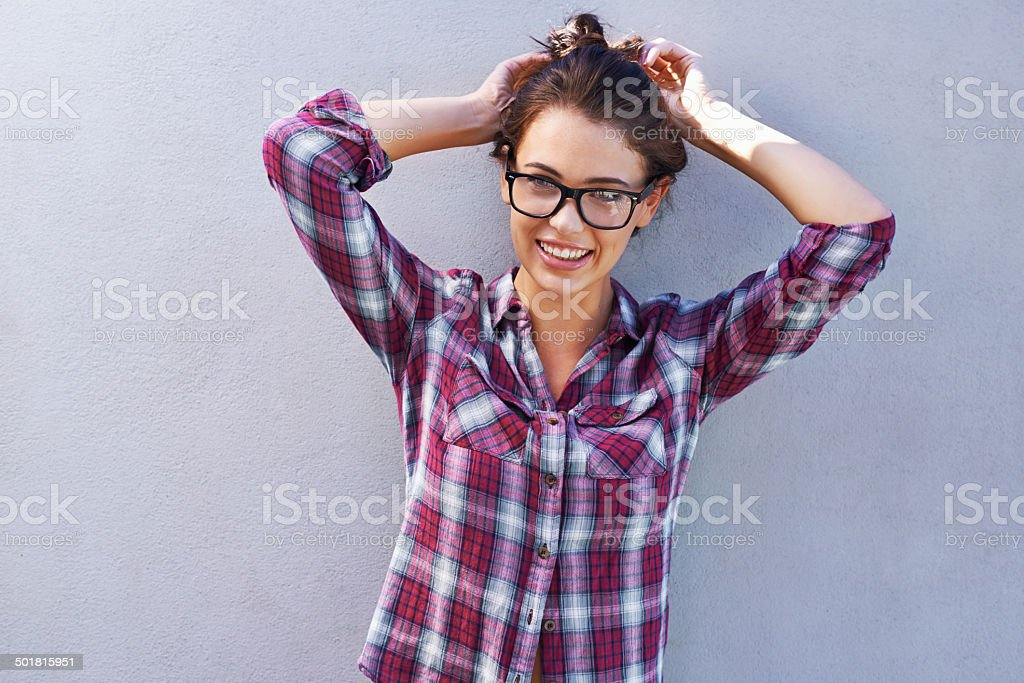 Time to let my hair down a bit! stock photo