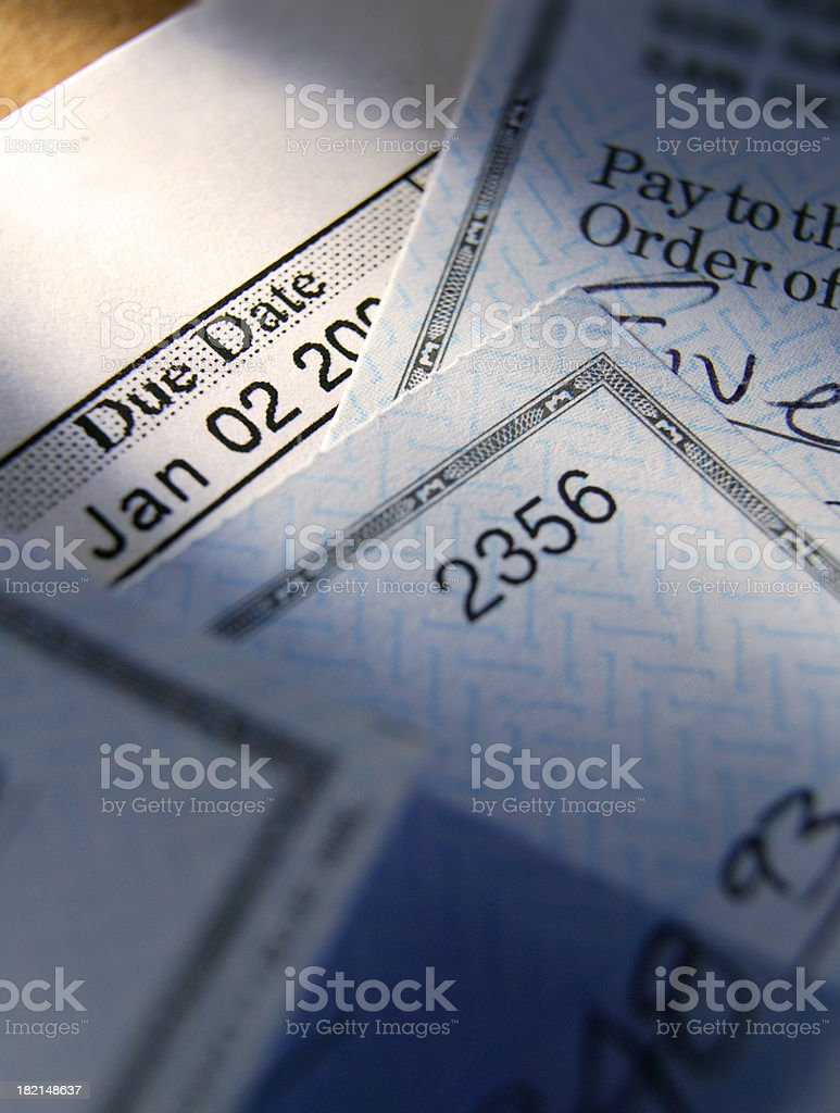 Time to Pay Bills royalty-free stock photo