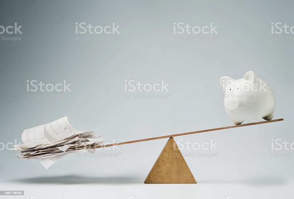 Time to pay the bills stock photo
