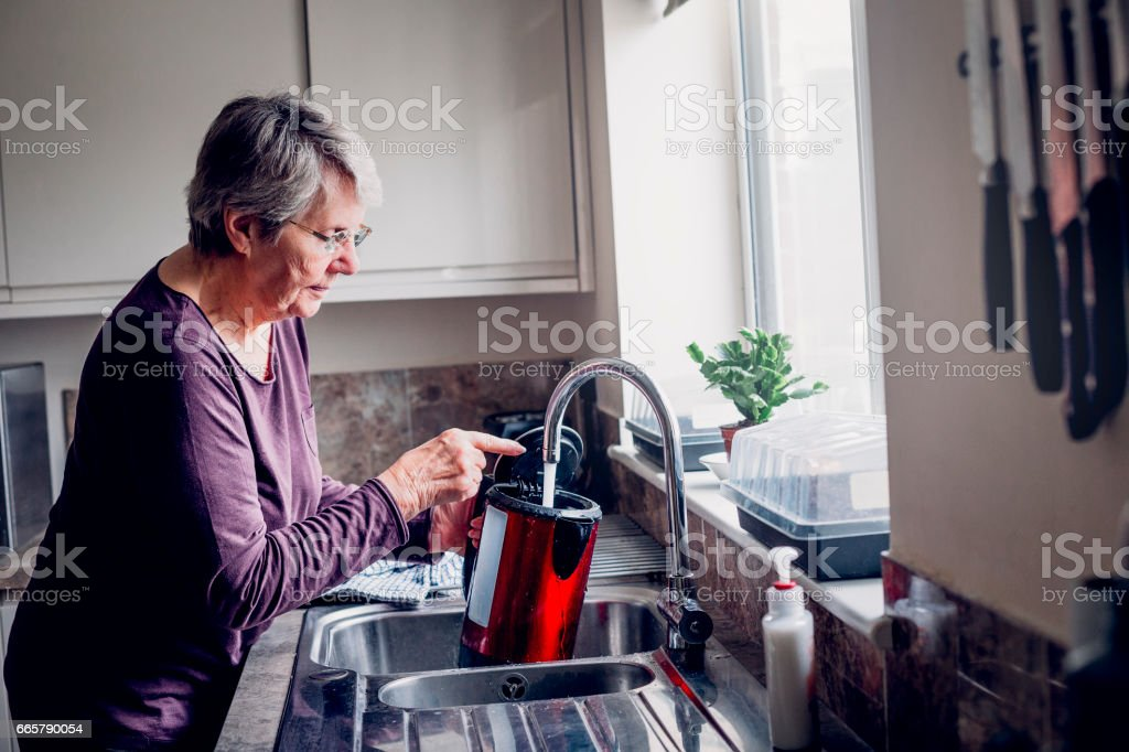 Time to put the kettle on! stock photo