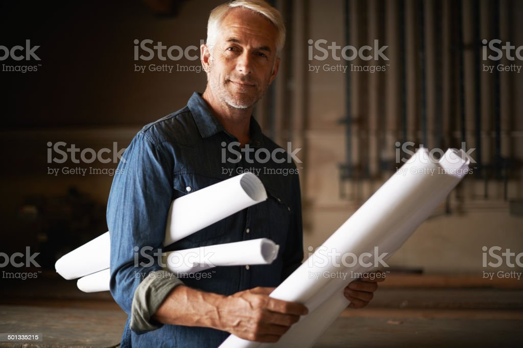 Time to put this plan into action stock photo