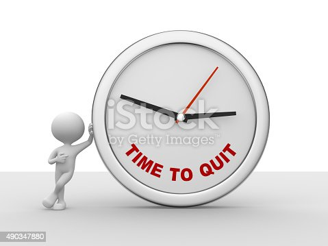 istock Time to Quit clock 490347880