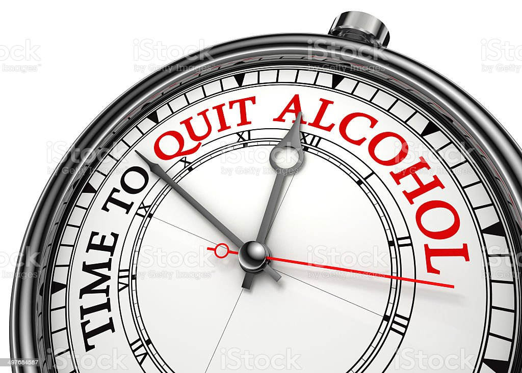 time to quit drinking alcohol stock photo