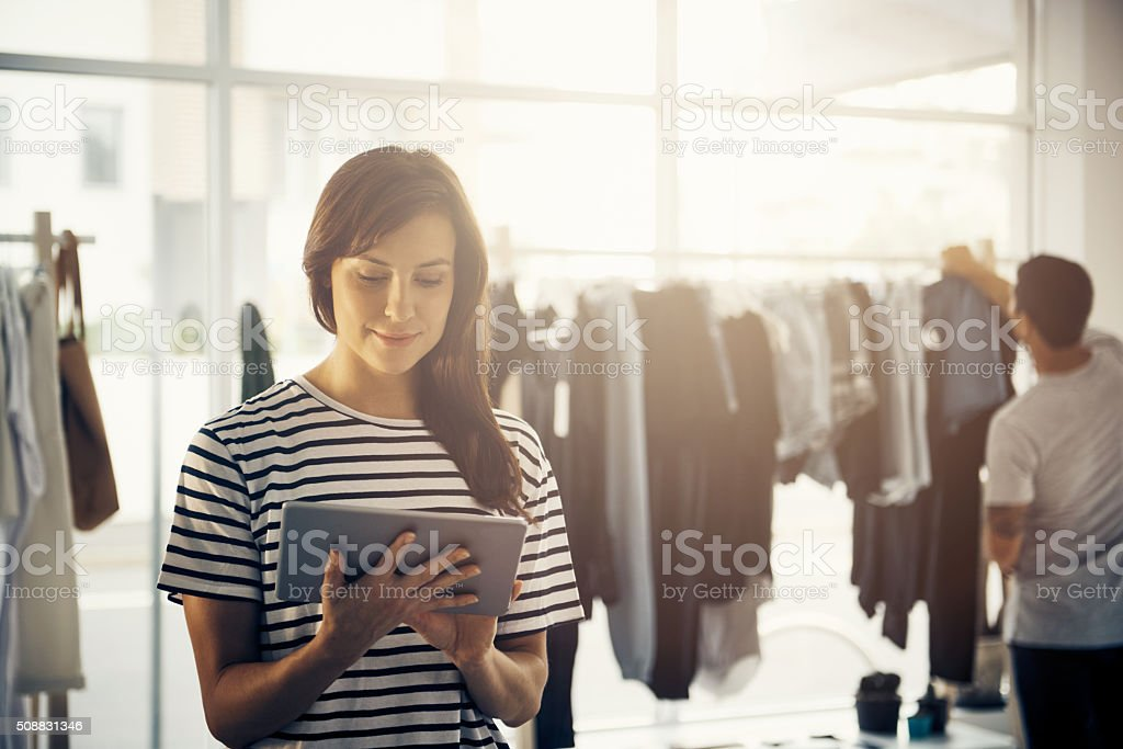 Time to release my new arrivals online - Royalty-free 20-29 Years Stock Photo