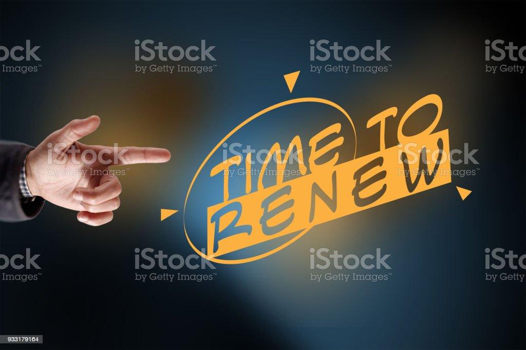 Time to renew stock photo