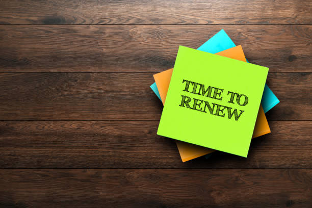 Time To Renew, the phrase is written on multi-colored stickers, on a brown wooden background. Business concept, strategy, plan, planning. Time To Renew, the phrase is written on multi-colored stickers, on a brown wooden background. Business concept, strategy, plan, planning. revival stock pictures, royalty-free photos & images