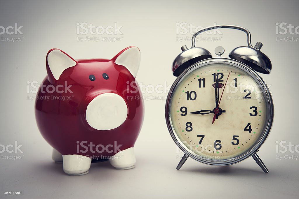 Time to savings money stock photo
