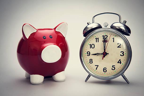 Time to savings money stock photo