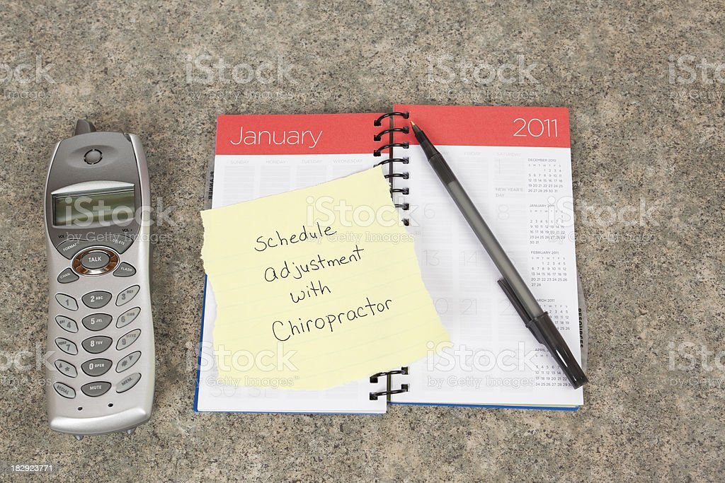 Time to Schedule a Chiropractic Adjustment royalty-free stock photo