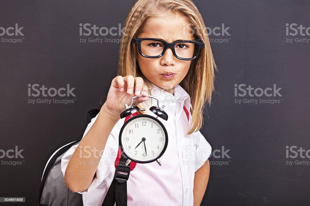 Time to school stock photo