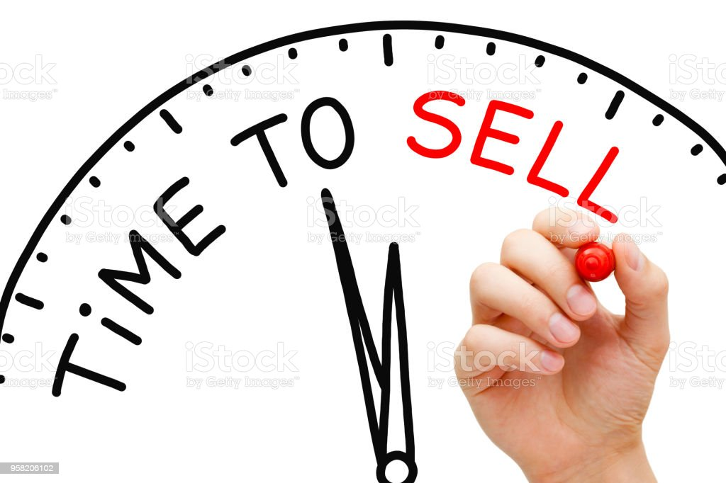 Time to Sell Clock Concept stock photo