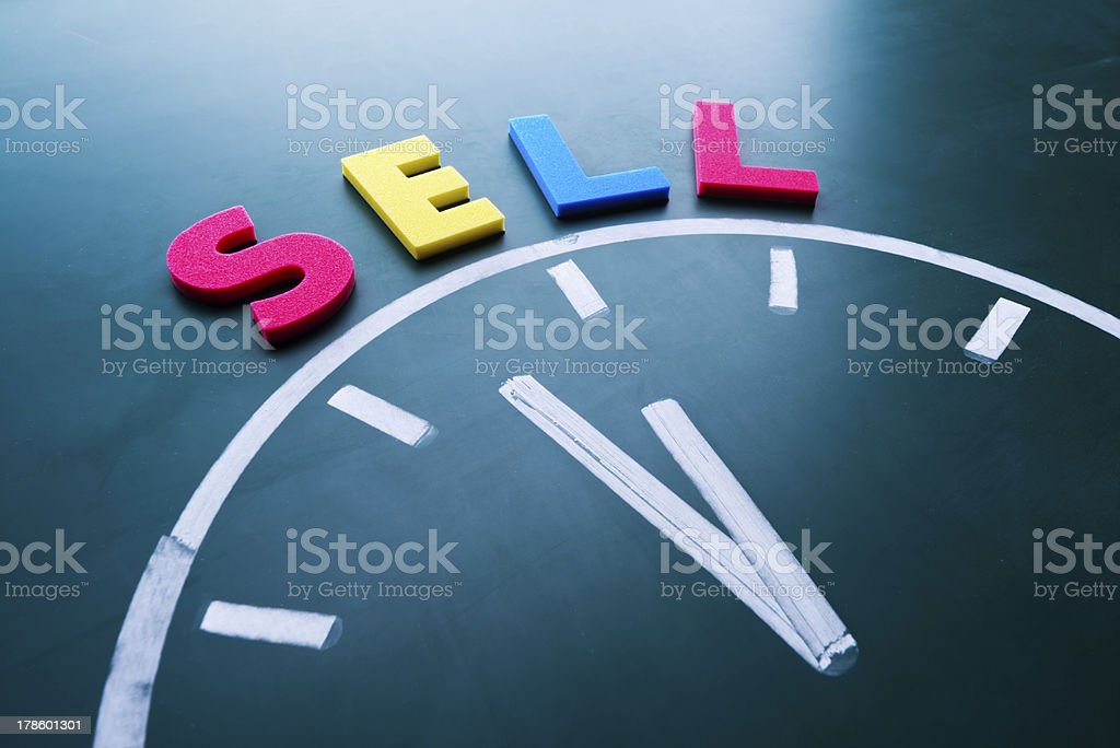 Time to sell concept stock photo