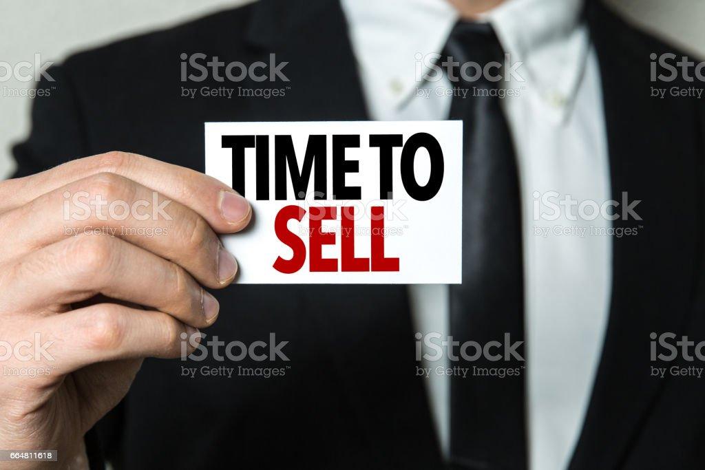 Tijd om te verkopen foto
