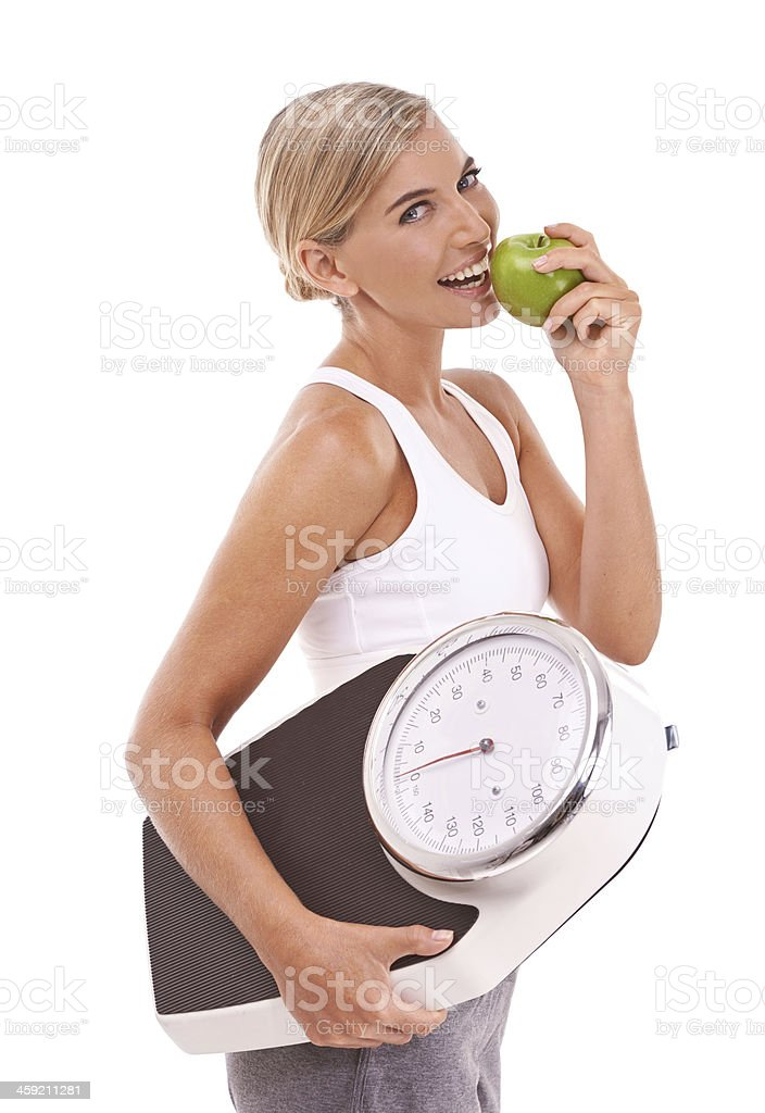 Time to shed those extra winter kilos! royalty-free stock photo