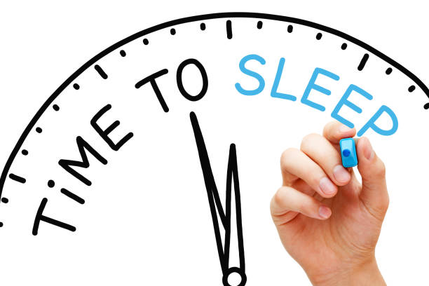 time to sleep clock concept - deficient stock pictures, royalty-free photos & images