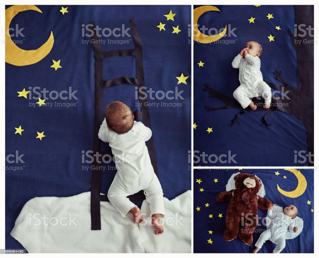 Time to sleep, time to dream stock photo