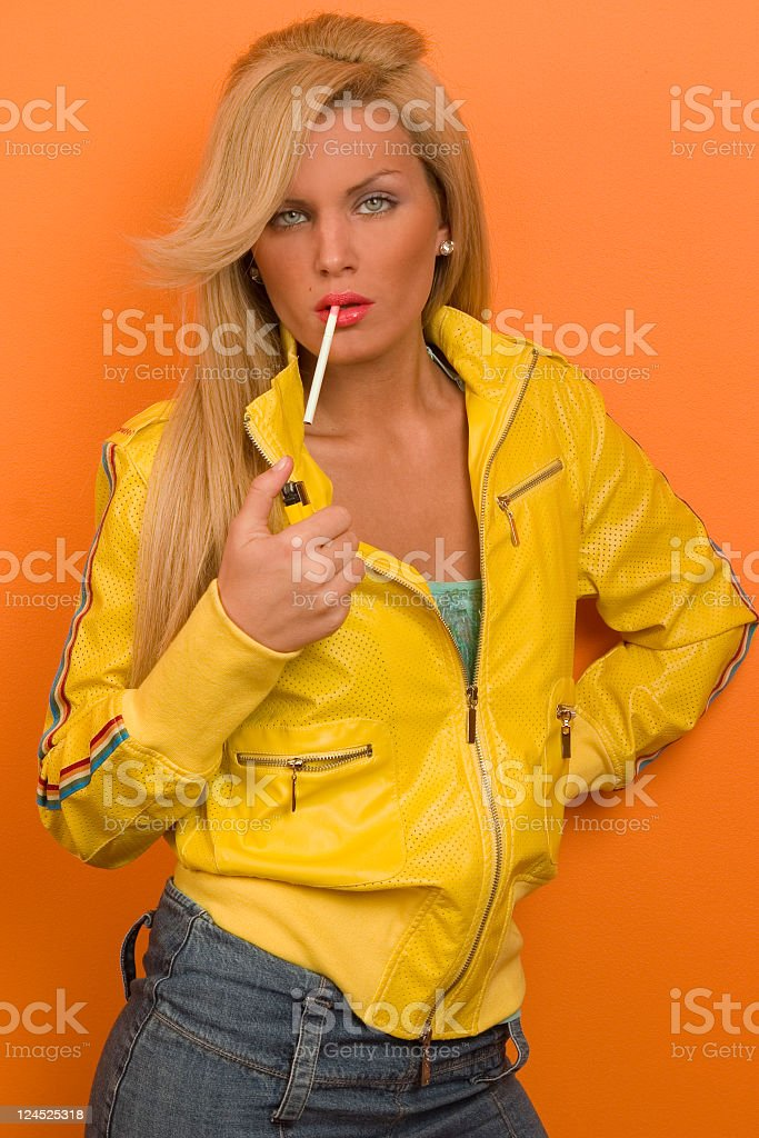 Time to smoke stock photo