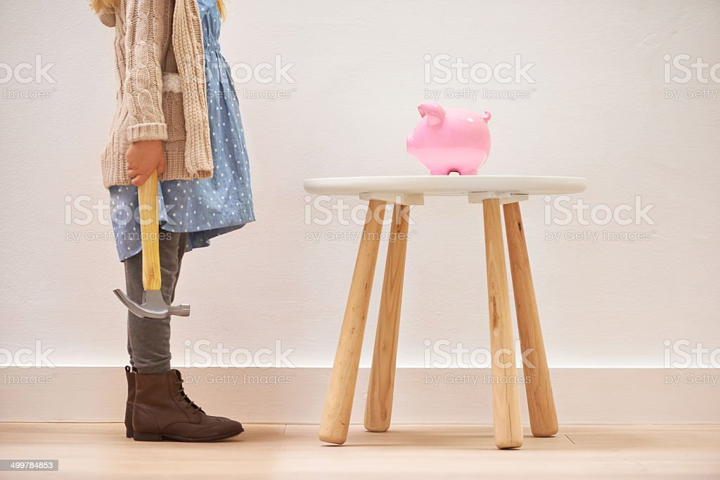 Time to spend those savings stock photo
