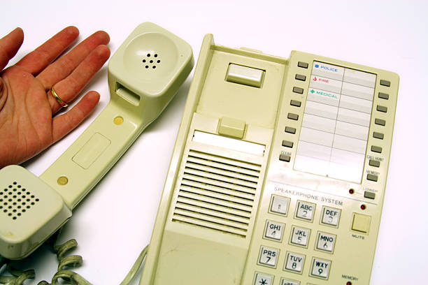Time to Upgrade: Death by Analog phone: need Cellular Technology stock photo