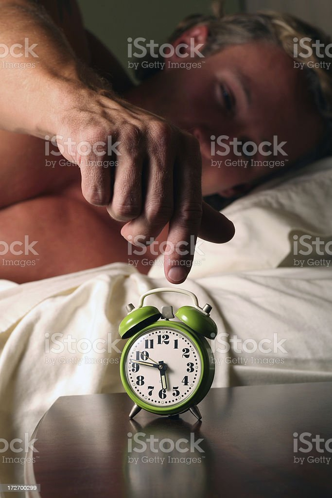 Time to wake up by Alarm Clock royalty-free stock photo