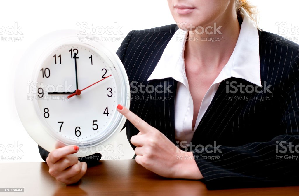 Time to work royalty-free stock photo