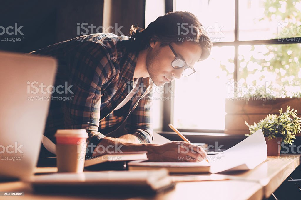 Time to work. stock photo