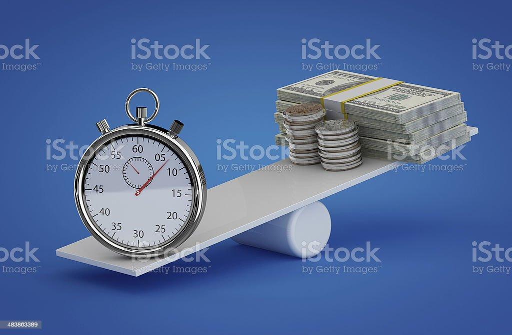 Time vs money stock photo