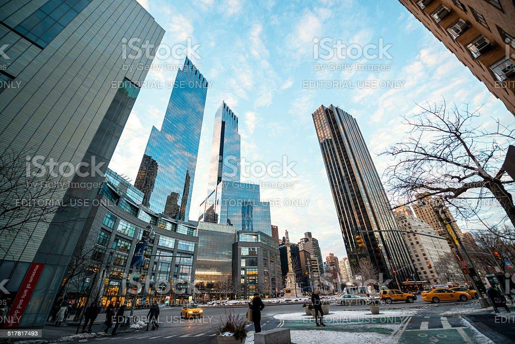 Time Warner Center at Columbus Circle, NYC stock photo