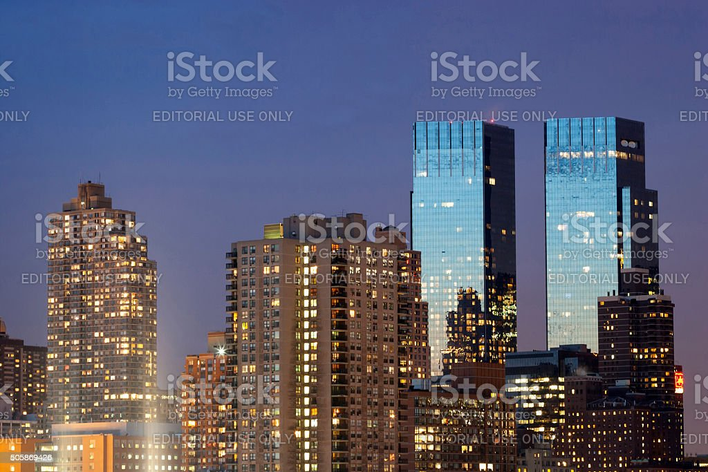Time Warner Center twin tower stock photo