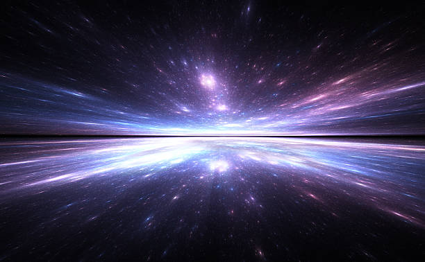 Time warp background, traveling in space. stock photo