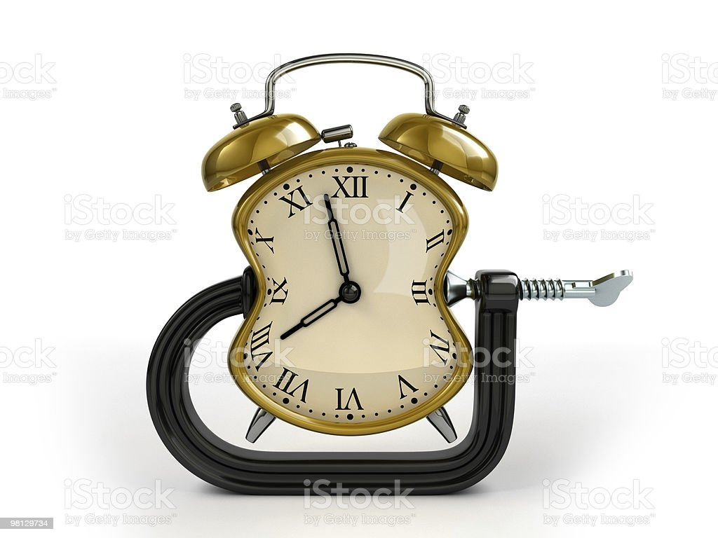 Concetto di Time warping foto stock royalty-free