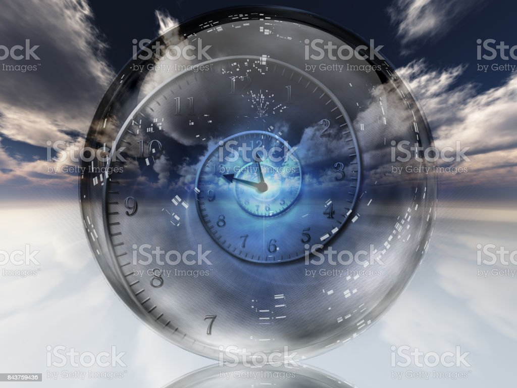 Time warp stock photo