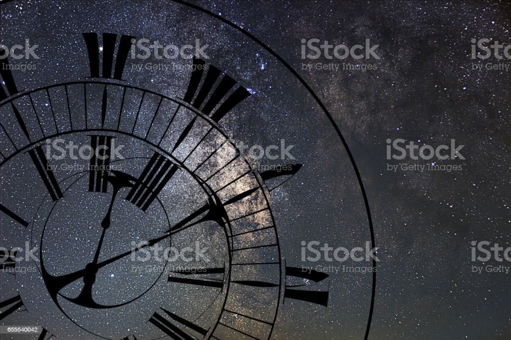Time Warp. Time and Space, General Relativity. stock photo