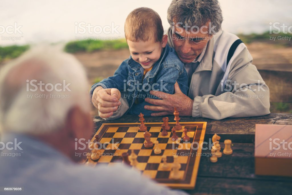 Time with grandson royalty-free stock photo