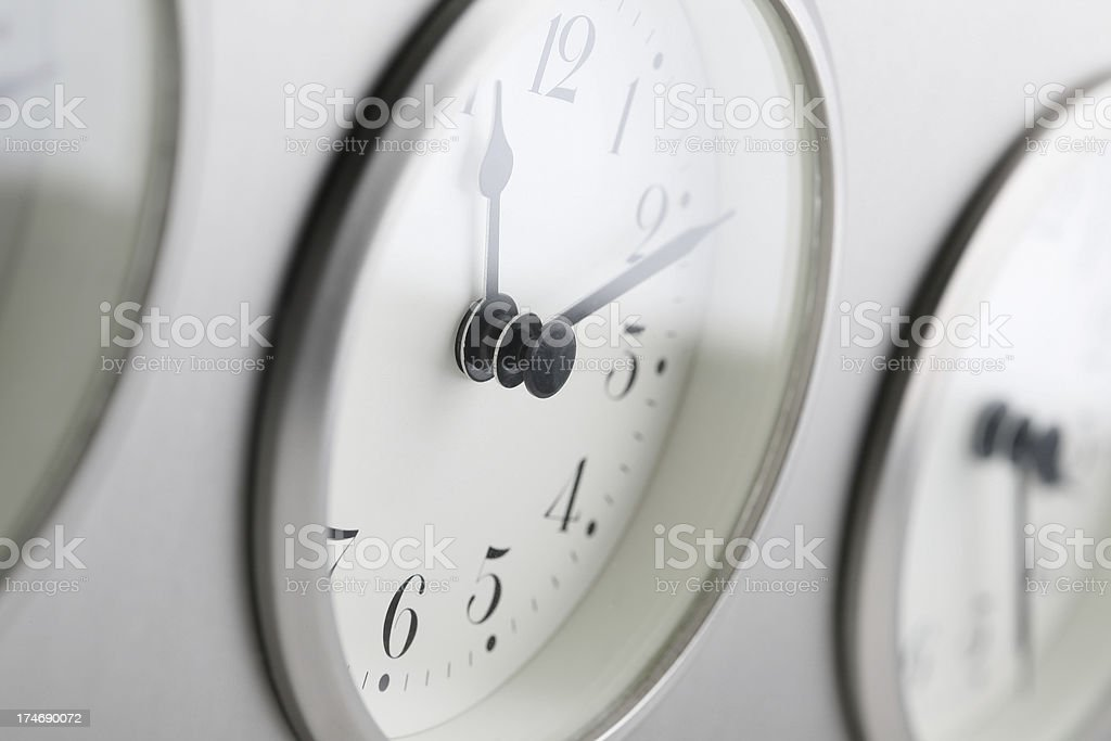 time zone clocks royalty-free stock photo