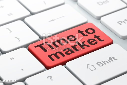 1129545215 istock photo Timeline concept: Time to Market on computer keyboard background 468831463