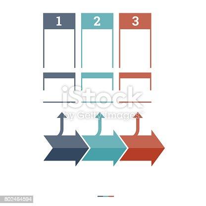 istock Timeline Infographic design template 802464594