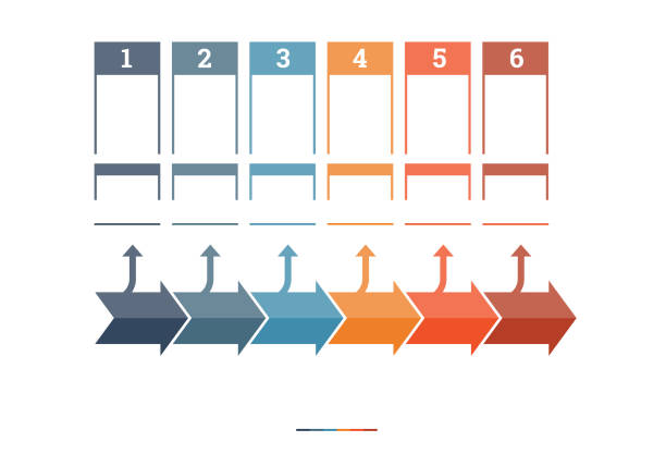 timeline infographic design template - timeline visual aid stock photos and pictures
