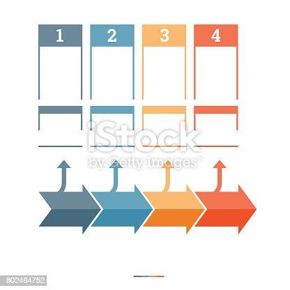 istock Timeline Infographic design template 802464752
