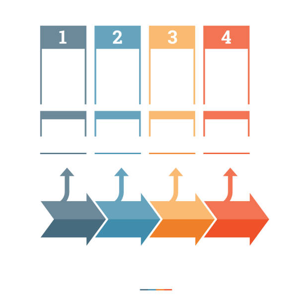 Timeline Infographic design template stock photo