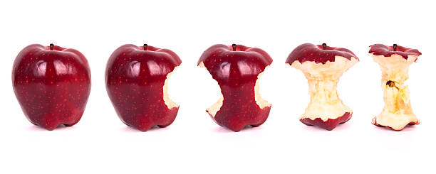 Timeline of eating an apple (XXXL) Other Apple Photo...   red delicious apple stock pictures, royalty-free photos & images